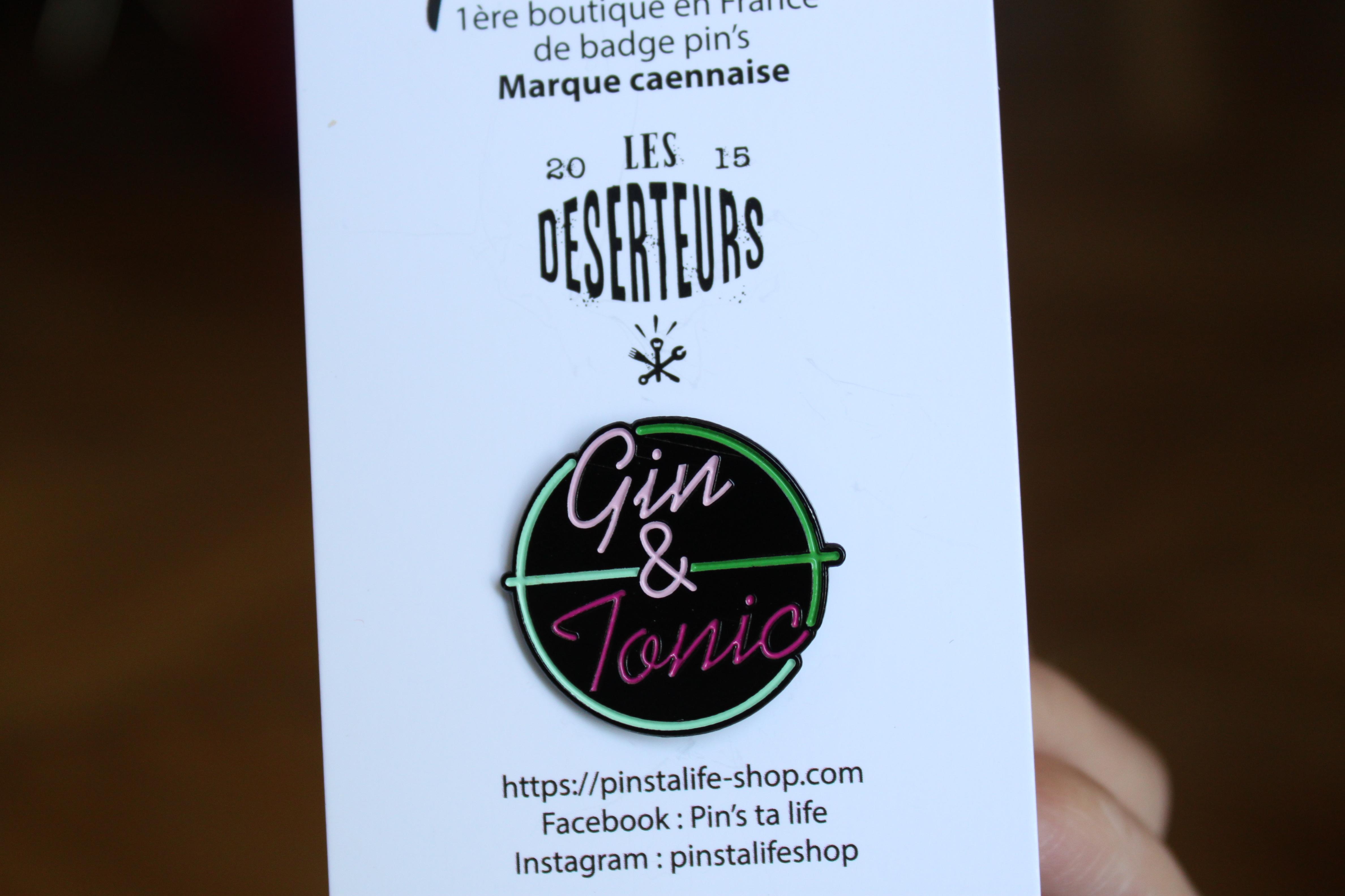 deserteurs gin & tonic pin's