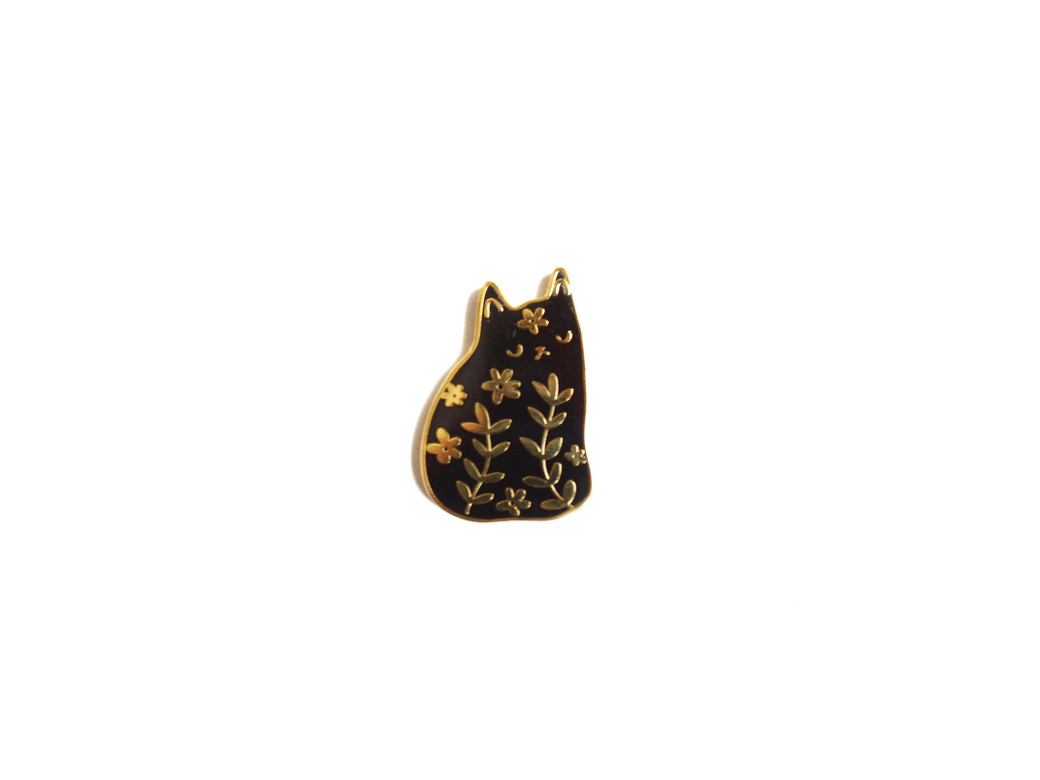 pin's chat fleurs