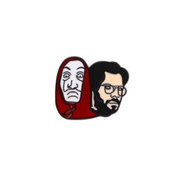 pin's casa de papel professeur