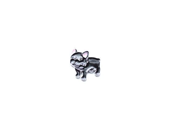 pin's bulldog français noir