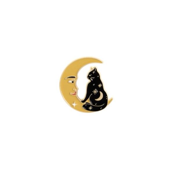 pin's chat noir lune