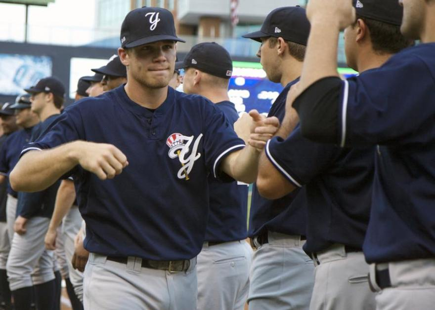 After retiring from playing in 2012 former 1st round pick Eric Duncan will return to the Yankees in 2015 (Jessica Kovalcin)