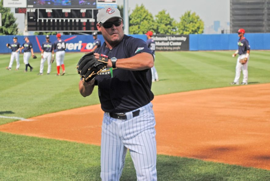 Hitting Coach Ty Hawkins returns for his 10th season with the SI Yanks (Robert M Pimpsner)