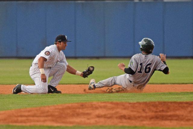 Luis Barrera was caught stealing in the first inning. (Robert M. Pimpsner)