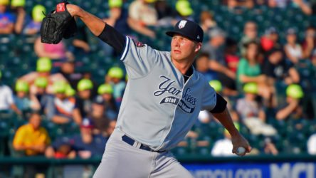 Evan Rutckyj earned the win in his first rehab appearance for the Staten Island Yankees. (Robert M. Pimpsner)