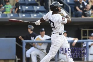 Jhalan Jackson went 3-for-4 with a double and his 5th home run of the season, but Staten Island fell 4-3 to Hudson Valley. (Robert M. Pimpsner)