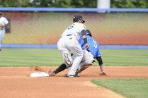 Jake Cronenworth caught stealing at 2nd base (Robert M Pimpsner)