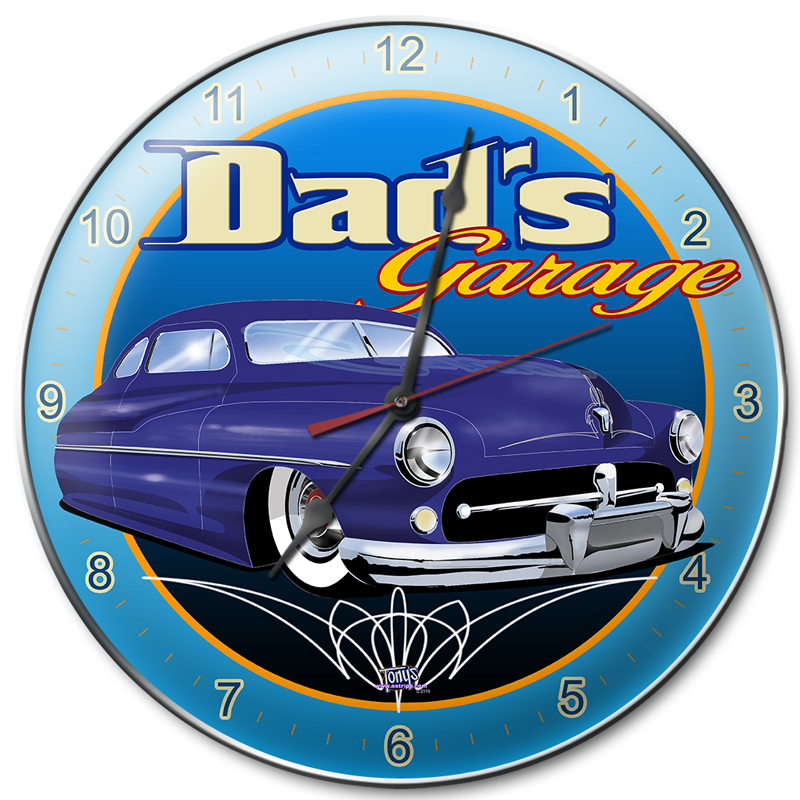 DAD'S GARAGE MERCURY CLOCK