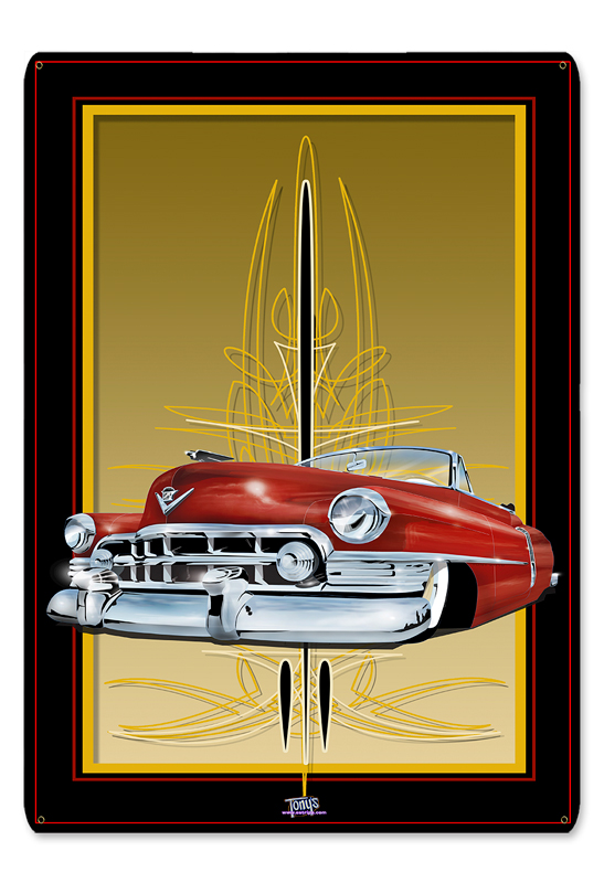 50 CADI RED Metal Sign