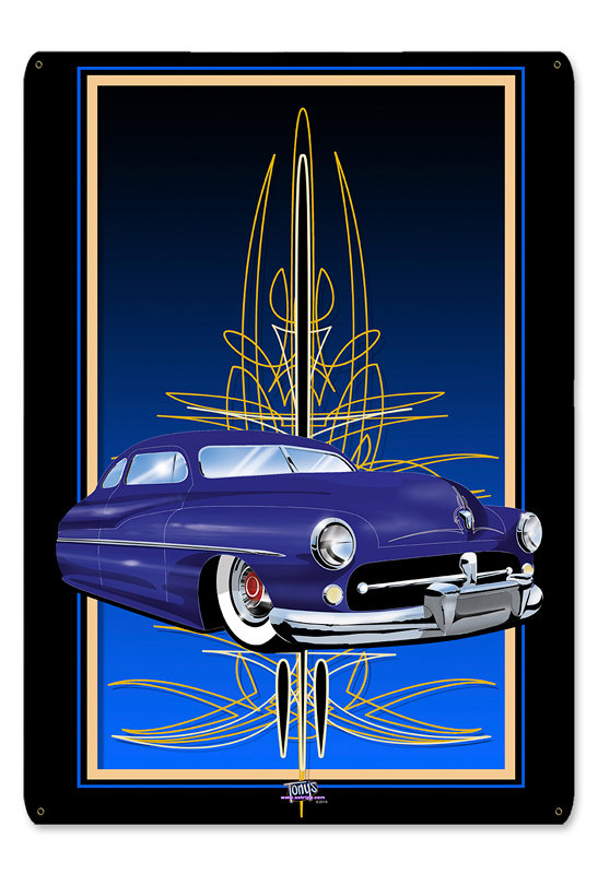 MERC 2 BLUE Metal Sign