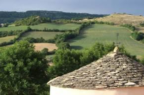 Vue de la terasse - Castel d'Alzac