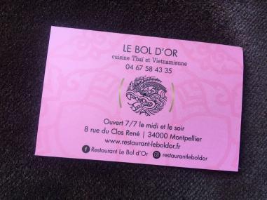 carte visite - Bol D'or Montpellier