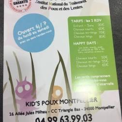 Kids Poux - Tarifs