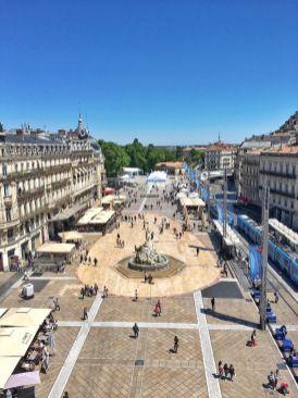Vue sur les toits de l'Opera Montpellier