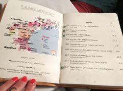 Carte des vins Languedoc