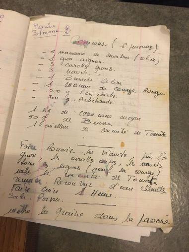 Couscous - cahier recettes maman