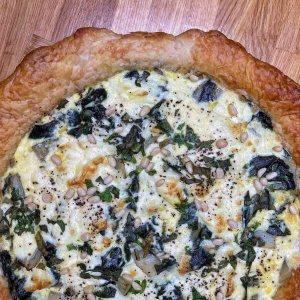 RECETTE // Tarte blettes, mozzarella et pignon