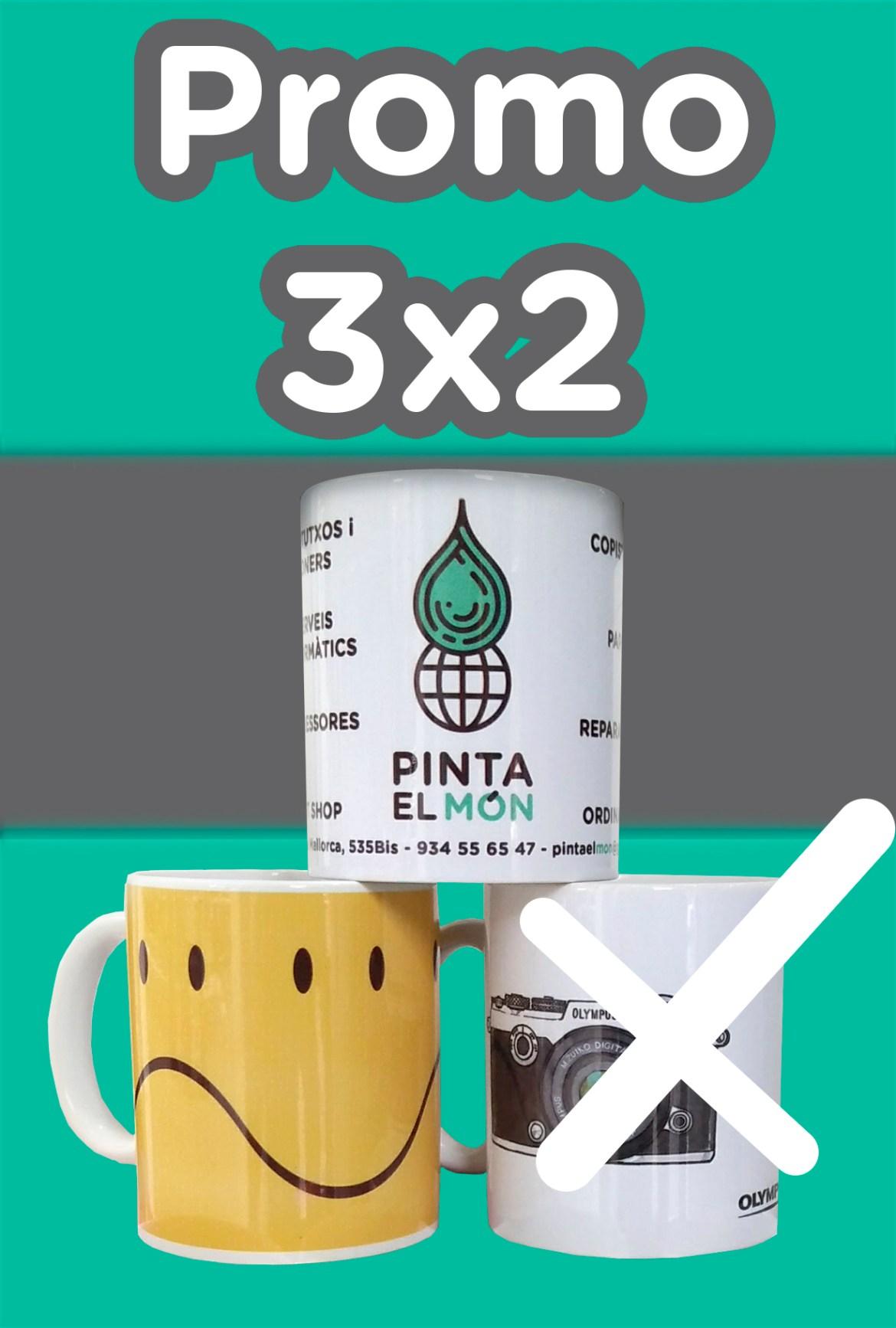 promo 3x2 tazas