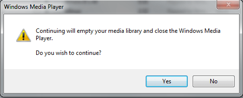 Media Player Empty The Library