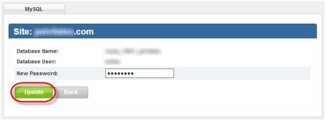 Winhost MySql Change Password