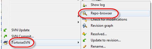 TortoiseSVN repo browser select
