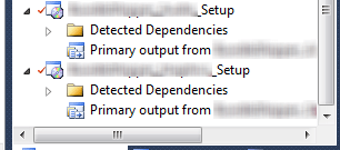 Visual Studio Multiple Setup Projects
