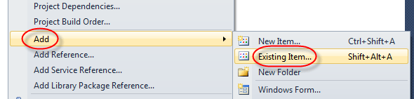 visual studio convert to 2012 project add exsiting