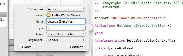 xcode action popover