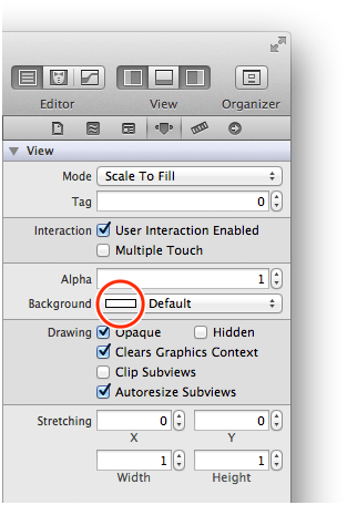 xcode background color button