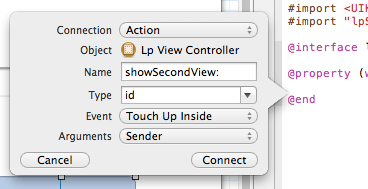 xcode first button interface