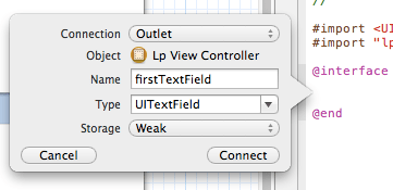 xcode first text field interface
