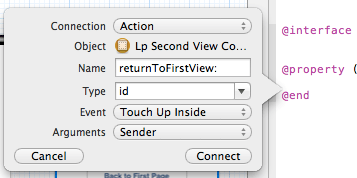 xcode second button interface