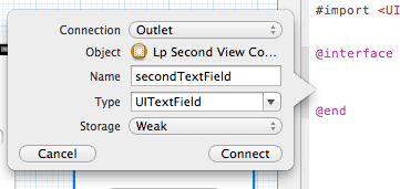 xcode second text field interface