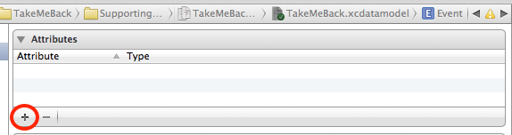 xcode data add attribute
