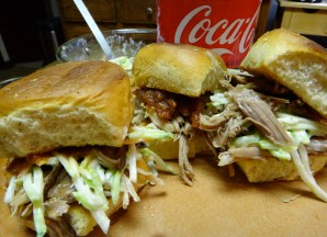 Spicy Coca-Cola Pulled Pork Sliders with Coca-Cola BBQ sauce & creamy cole slaw
