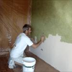 Aplicando Tierras Coral Verde Oliva