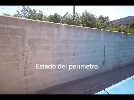 Estado del muro perimetral a pintar 2