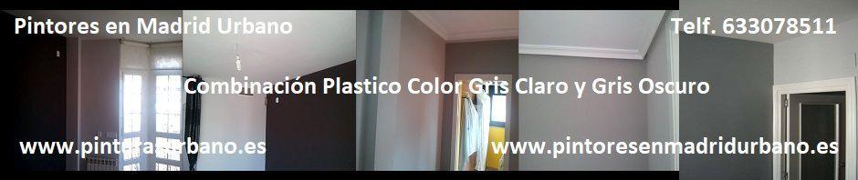 Banner Plastico Color Gris Claro y Gris Oscuro