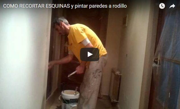 Como Recortar y Pintar Paredes a Rodillo