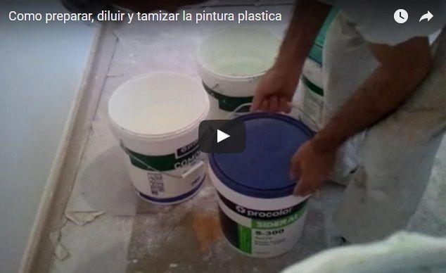 Como preparar, diluir y tamizar la pintura plastica