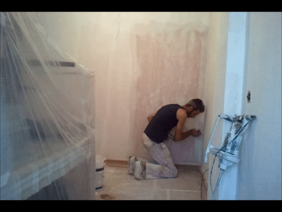 Aplicando 1 Mano de Aguaplast Macy Renovacion 8