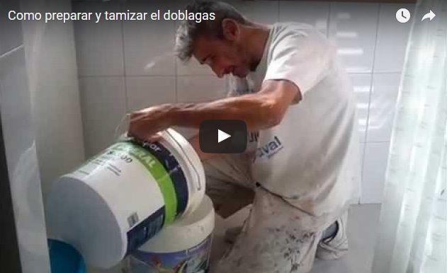 Como preparar, diluir y tamizar la pintura doblagas