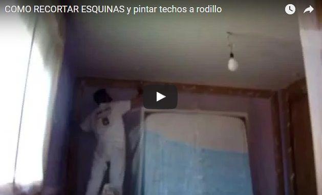Como Recortar Esquinas y Pintar Techos a Rodillo