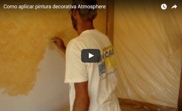 Como aplicar pintura decorativa Atmosphere