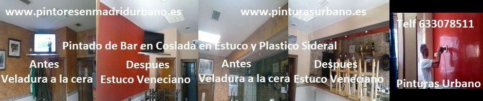 Banner Estuco y Plástico Bar Coslada