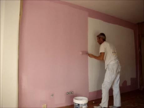 Aplicando Esmalte color Malva 1