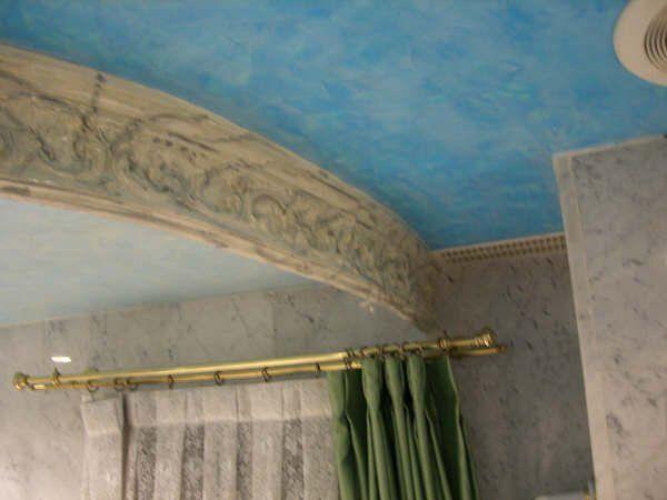 Estuco Veneciano Azul baño 2