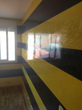 Estuco Veneciano Original a rayas amarillas y negras Borussia Dortmund - Terminado dia (2)