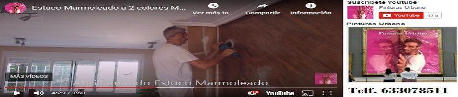 Banner Estuco Marmol Veteado Marron y Chocolate con Cera Kepi y Alex