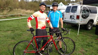 Brian and Matt, first time cyclocrossers!